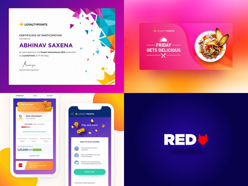 My top 4 of 2018 coloful food app branding branding certificates uidesign ux  ui illustation