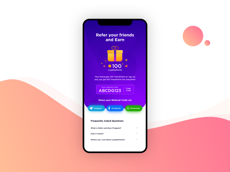 Refer Your Friends & Earn Points loyalty yellow share crown ios flat illustraion gift vector iphone uiux ui points rewards