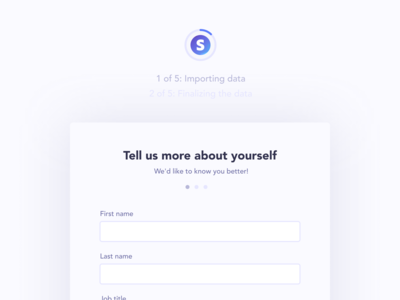 Onboarding redesign