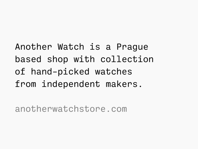 Another Watch · Tagline watches watch monospace tagline identity brand anotherwatch