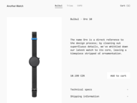 Another Watch · Shop concept