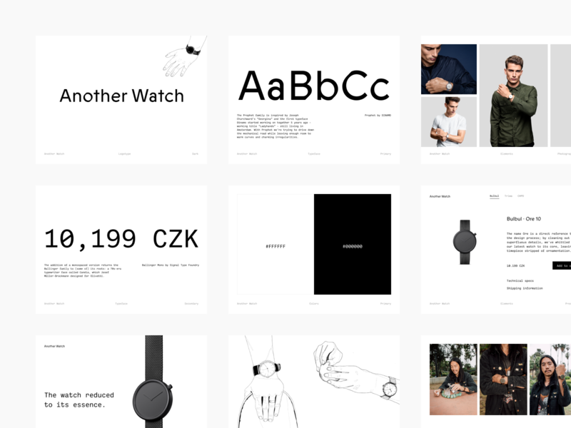 Another Watch · Branding anotherwatchstore anotherwatch monospace typography logotype visual identity branding