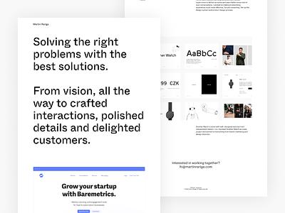 💥New personal website! typography design webflow website personal portfolio