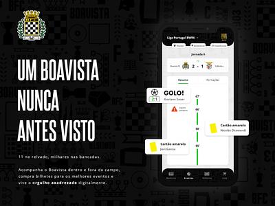 Boavista FC app teaser liga portugal boavista football soccer user interface ui ux mobile app ui