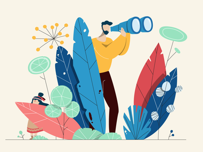 Illustration for my daughter illustrator graphic design plants fathers day vector flat illustration illustration