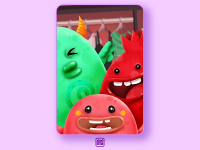 monsters in my closet selfies selfie closet monsters monster product illustration characters design ux ui character design character illustration art illustration