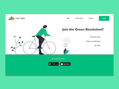 Let's Cycle website UI cycle figma websiteui design