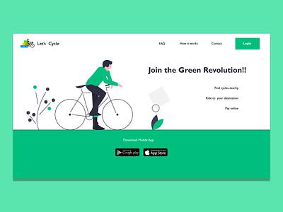 Let's Cycle website UI cycle figma websiteui design