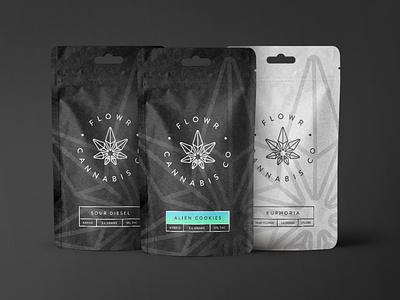 Flowr Cannabis design typography logo packaging branding