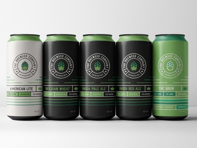 Breweed cannabis beer can layout logo typography packaging design branding