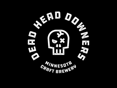 Dead Head Downers Craft Brewery icon vector beer can illustration grunge textures logo packaging design branding typography
