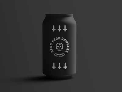 Dead Head Downers Can Concept typography logo design vector can design packaging branding brand identity logo