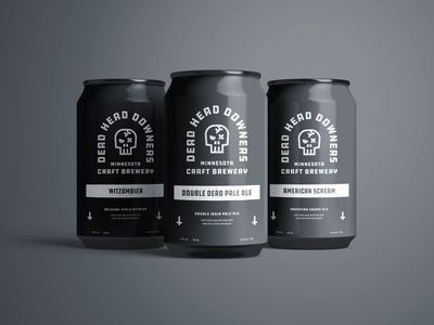 Final Can Design for Dead Head Downers illustration can design brand identity beer can vector logo design packaging branding typography