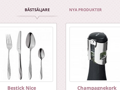 Product tabs ecommerce products pink