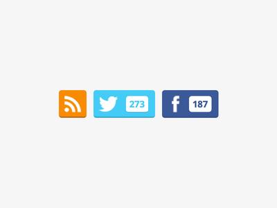 Follow blog widget wordpress blog follow twitter facebook feed rss
