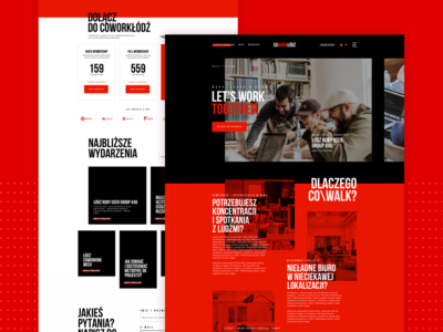 Co Work Lodz - landing page concept for coworking office