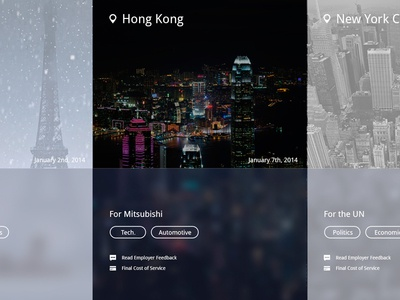 Cities ikons design web typography webpage layout