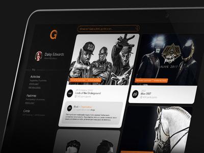 Homepage - Outgo layout web design dark ux homepage navigation menu ui