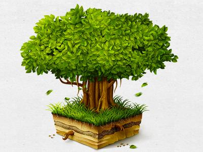 Banyan Tree Mac OS icon tree root icon macos app leaf