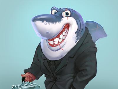 Shark character character merman shark
