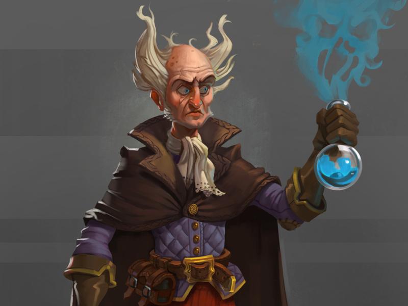 Crazy Alchemist concept character flask magic alchemy mage alchemist