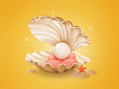 Pearl — Kidorable pearl icon starfish shell