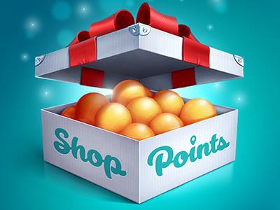 Shop Points IOS icon icon ios box tape balls