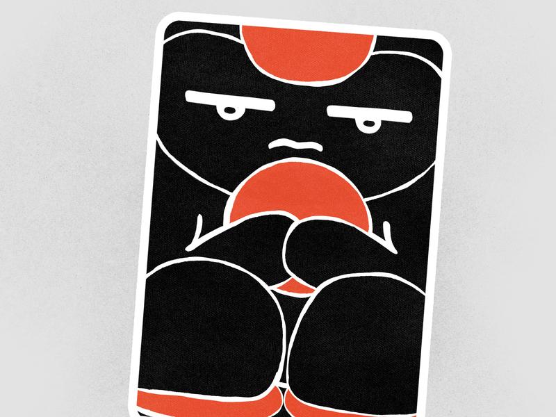 FOUR OF PENTACLES portfolio mystical illustration design tarot tarot card