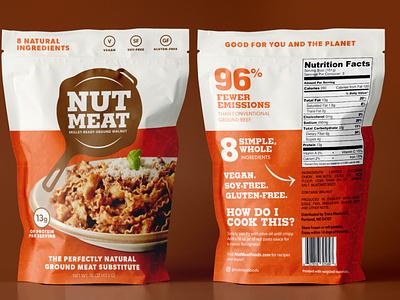 Nut Meat Packaging Mockup vegetarian vegan retail food packaging branding eco-friendly