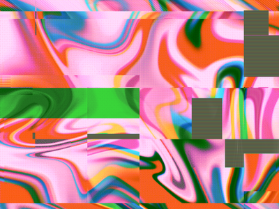Glitchy Marble procreate freebie tutorial trippy abstract marbled glitch art