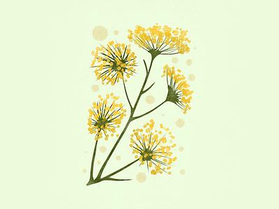 Flower Hour 05 gold yellow bouquet inspo flower bright floral illustration