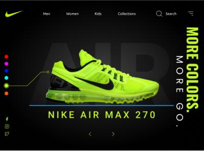 Nike Air Max 270 Concept Design website ui web design