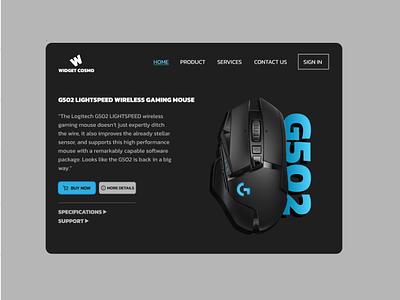 Widget Cosmo Landing Page Concept website web ui design