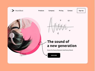 Headphone Website Design Concept design web ui website