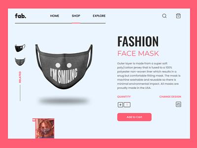 Face Mask Design Concept website ui design web