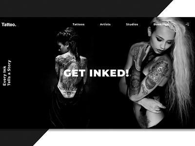 Tattoo Website Concept graphicdesign web ui design