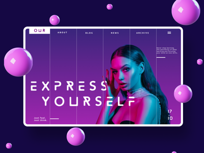 Express Yourself UI Web Design Concept graphicdesign web ui design