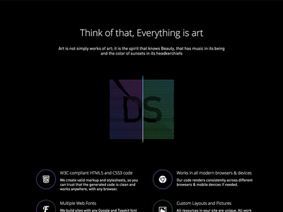 Dev Studio landing parallax design studio website