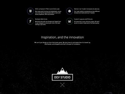Dev Studio landing parallax design studio website