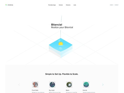Bitancial Redesign landing page mock-up redesign bitancial