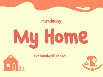 My Home t-shirt poster playful modern logos kids instagram handwritten children theme
