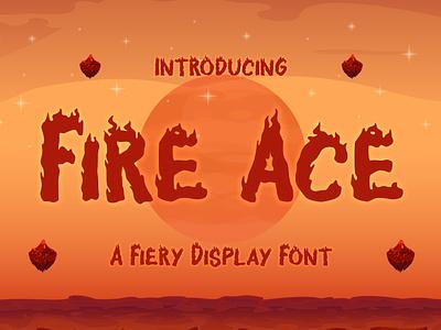 Fire Ace – A Fiery Display Font heat