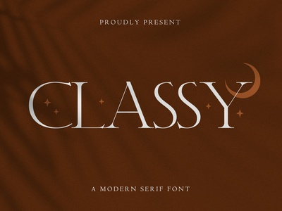 Classy – Modern Serif Font landing page wedding