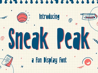 Sneak Peak – A Fun Display Font playful