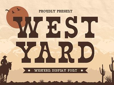 West Yard – Western Display Font west