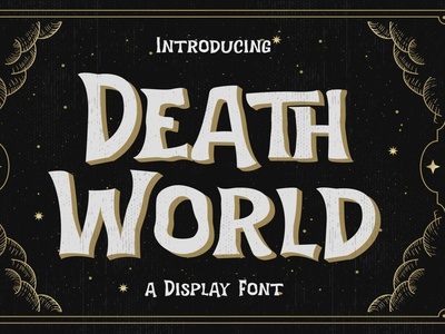 Death World – Display Font story book