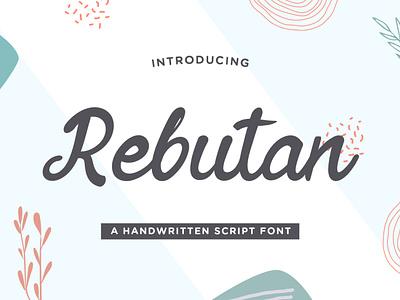 Rebutan – Handwritten Script Font thin