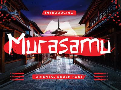 Murasamu - Oriental Brush Font poster quotes restaurant