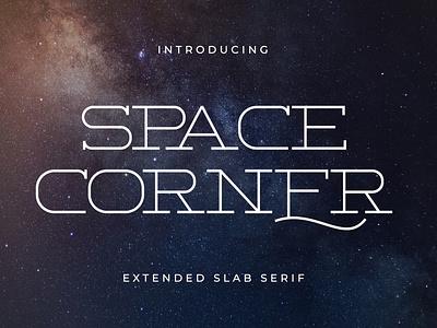 Space Corner - Extended Slab Serif stamp