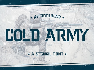 Cold Army - Stencil Font mechanical